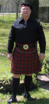 Jackie in County Tipperary Tartan in March 2005